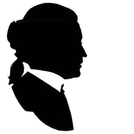 David Garrick silhouette
