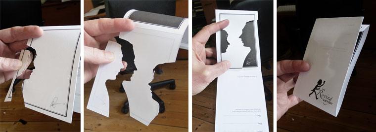 Cutting half silhouettes
