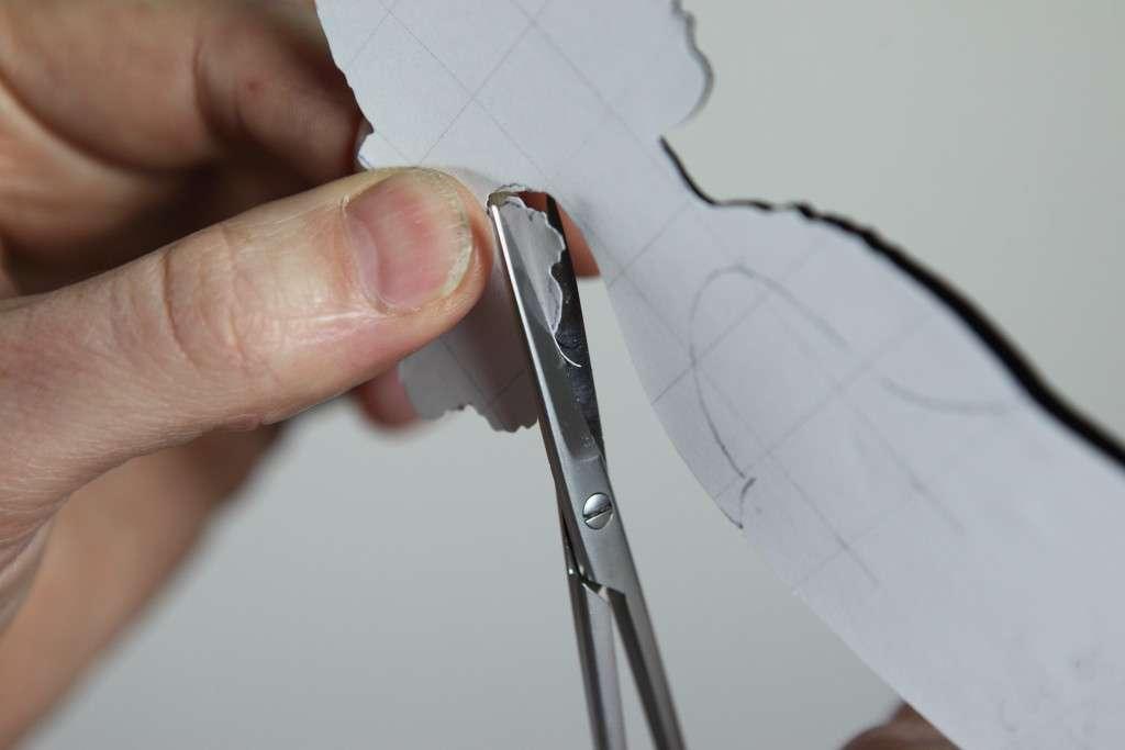 Silhouette scissors in action
