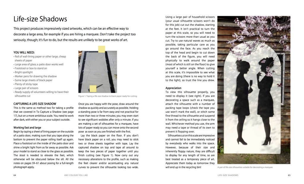 Mastering Silhouettes pages 64 and 65