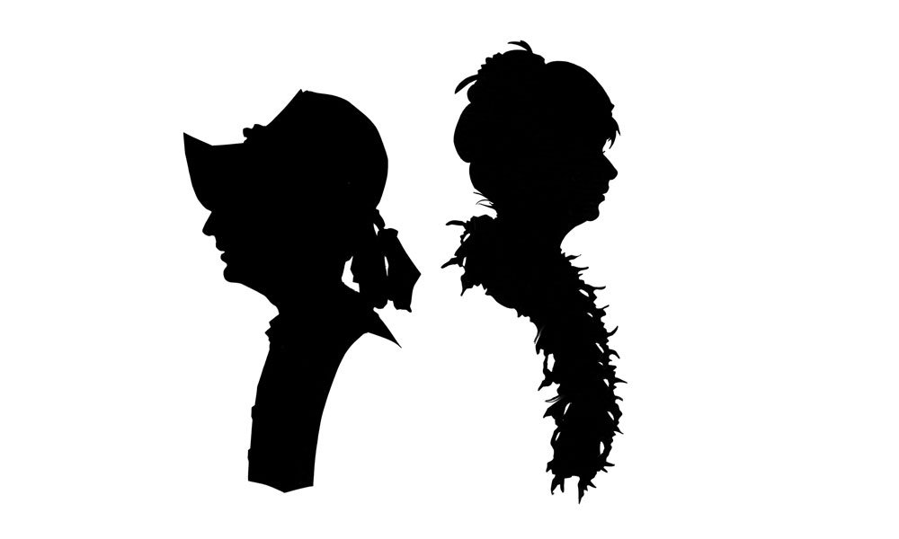 Two silhouettes from the slide show