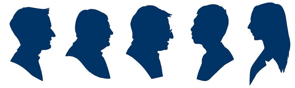 A set of one-minute silhouettes