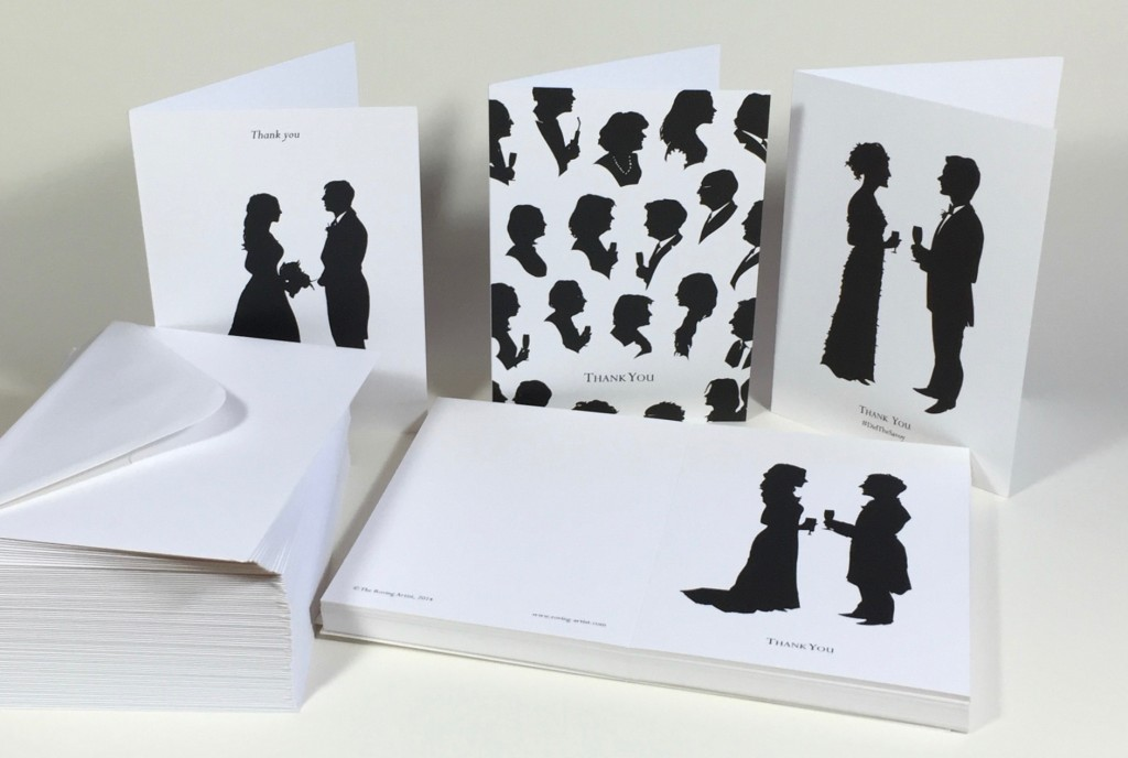 Silhouette thank-you cards