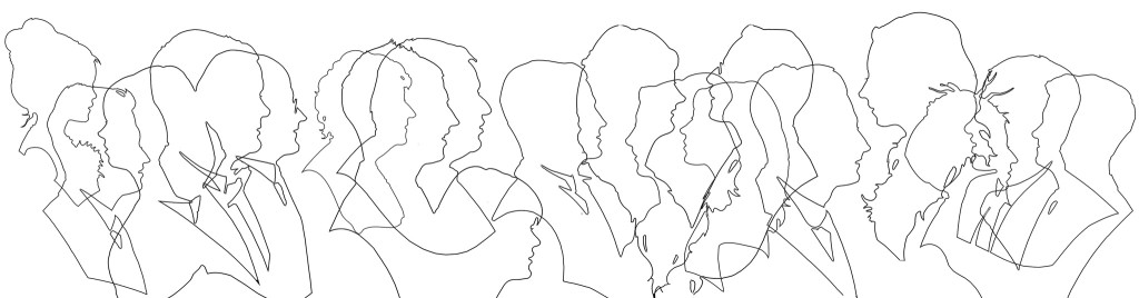 Silhouette outlines by Charles Burns