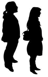 Full-length silhouettes