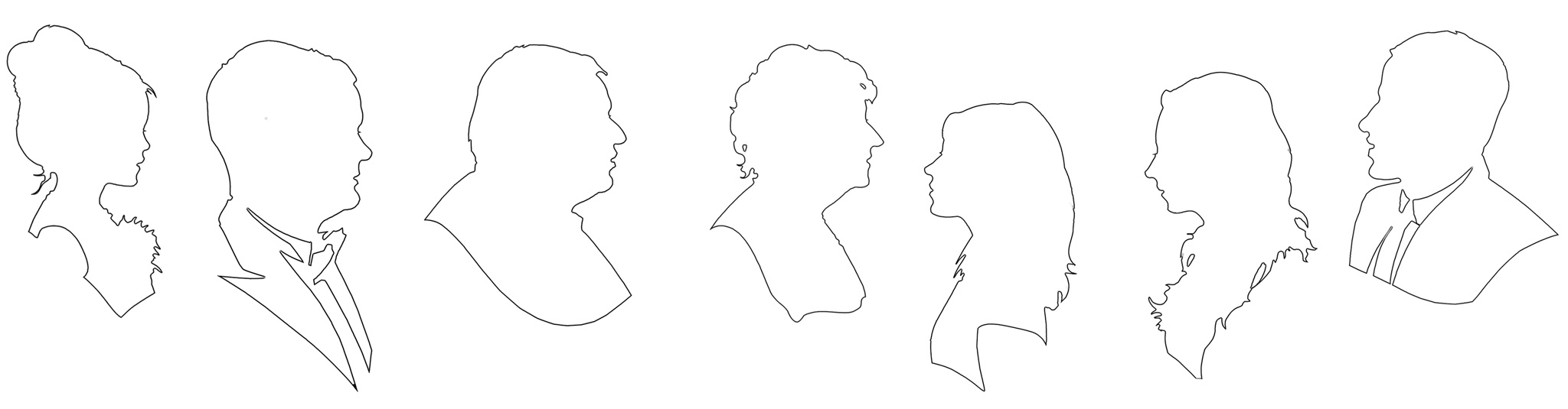 Silhouette outlines