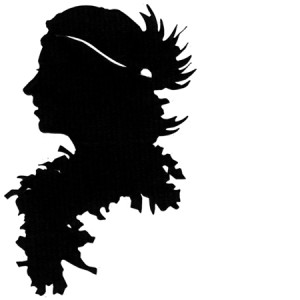 feathered silhouette