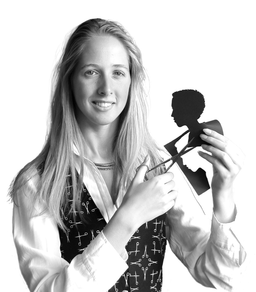 Silhouette artist Alison Russell