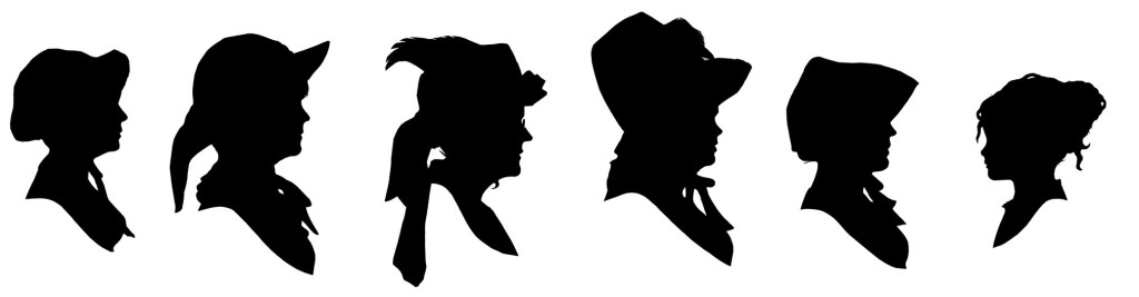 Six silhouettes by Taz
