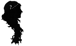 Woman with braided hair and question mark