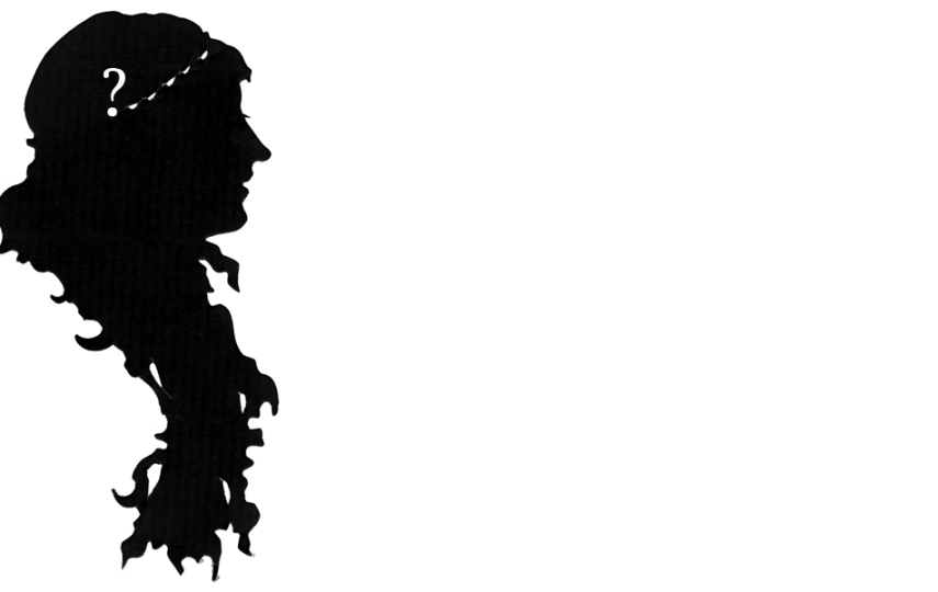 Silhouettes: <i>woman with curly hair</i>