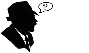 Man with speech bubble and question mark