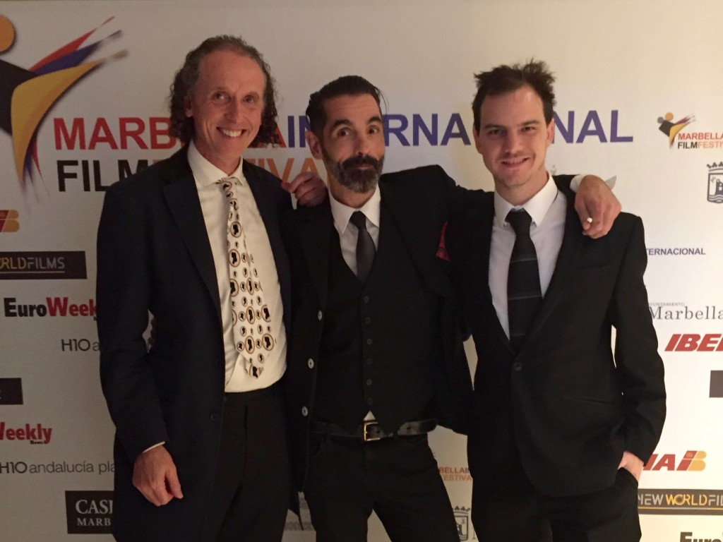 Charles Burns, Andi Reiss and Ollie Richards at the Marbella IFF