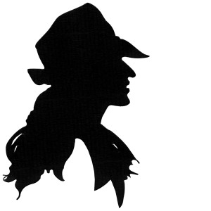 Woman with trilby hat and long hair