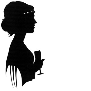 Flapper girl silhouette