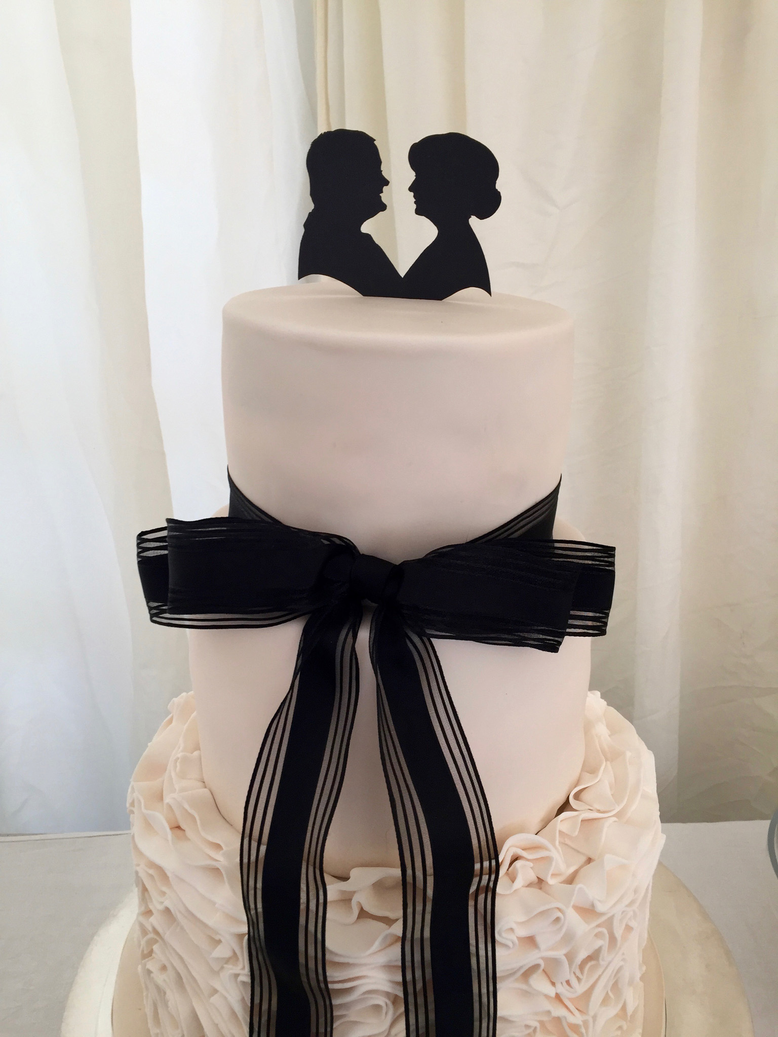 Artis Wedding Cake : Wedding cake silhouette, cut from card or icing   The ...