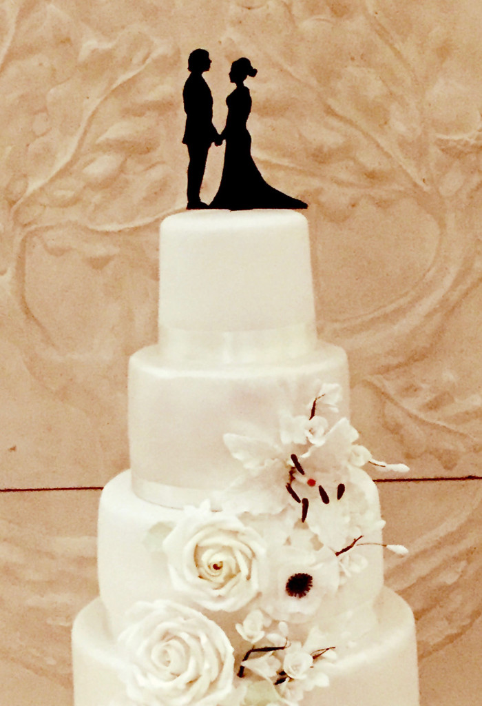 Full-length cake topper