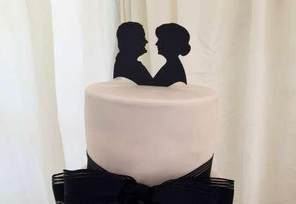 Wedding cake silhouettes