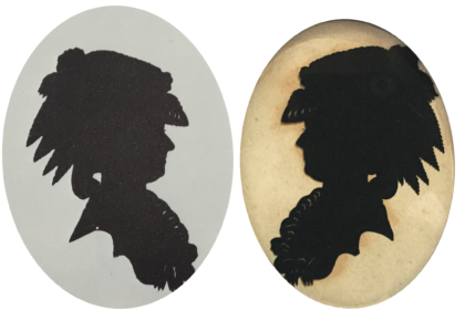 A silhouette of Marie Antoinette