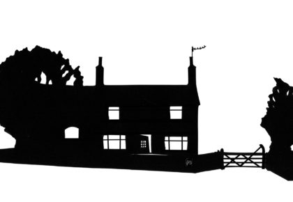 Mixed-media Building Silhouettes