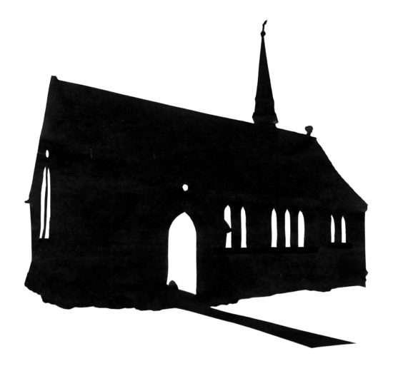 st John-the-baptist, a simple building silhouette
