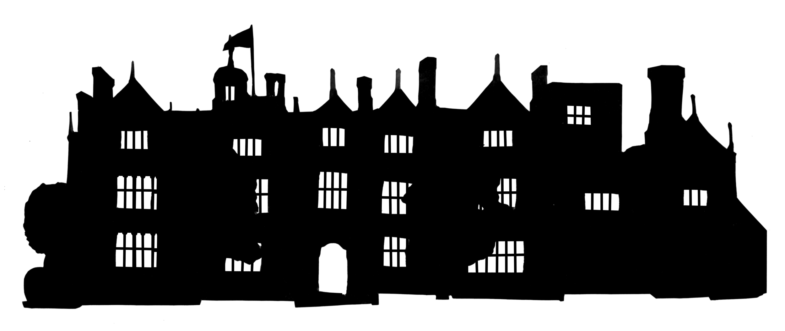 Mixed Media Silhouettes Of Buildings The Roving Artist