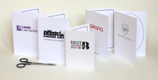 Branded silhouette backing cards