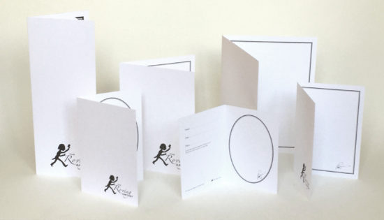 Standard silhouette backing cards