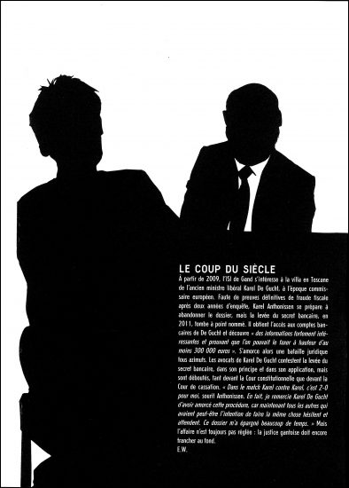 A silhouette illustration, not in profile, for Médor Magazine