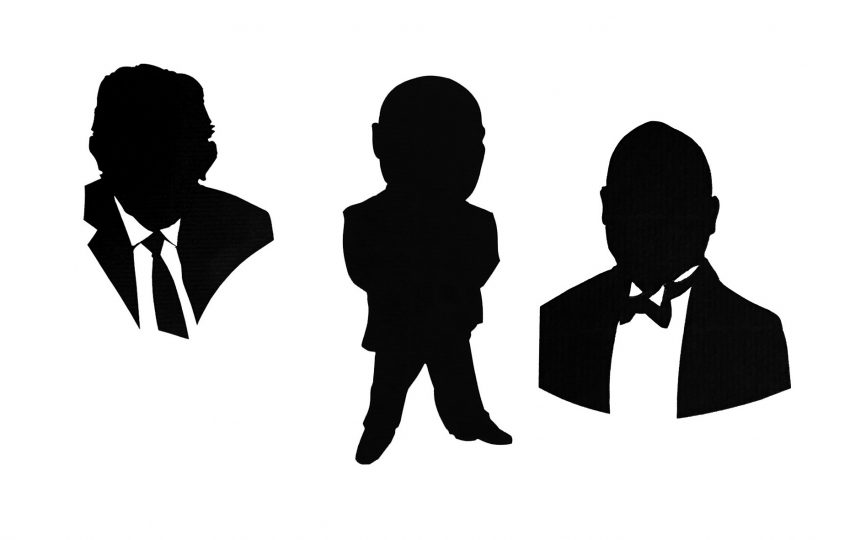 A face-on silhouette or two  (you mean, not in profile?)