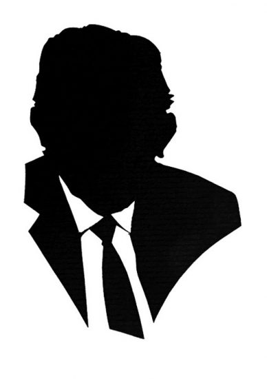 a head-on silhouette