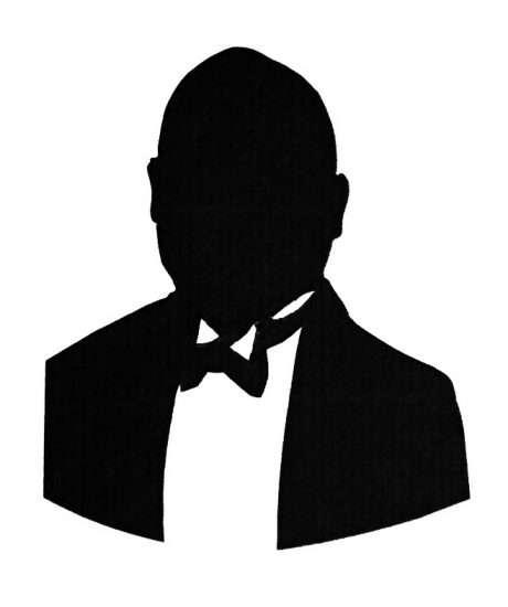black tie fee-on silhouette