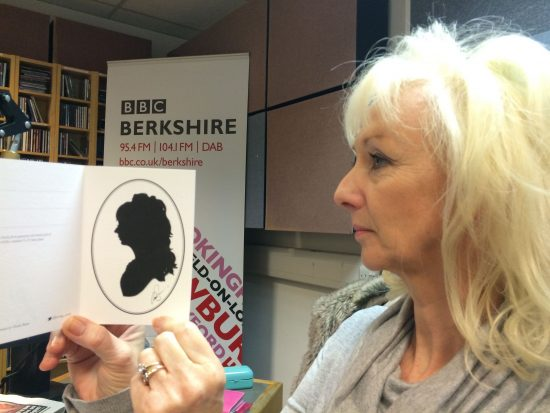 My silhouette of Debbie McGee