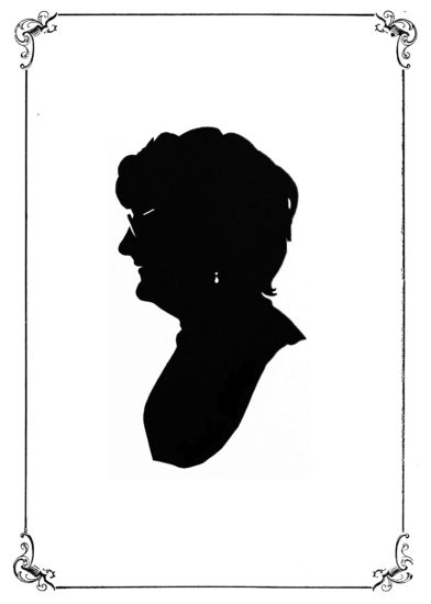 One of Fifty Shades: Head of a woman in an ornate frame.