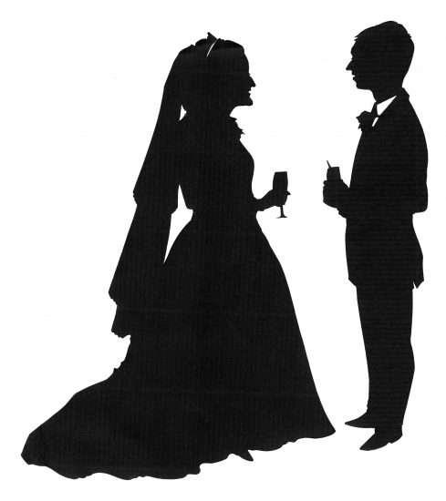 Bride & Grrrom silhouette