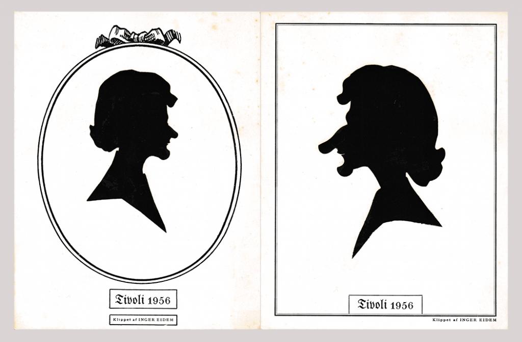 Portrait and caricature silhouettes bu Inger Eidem