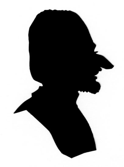 Caricature head with large nose