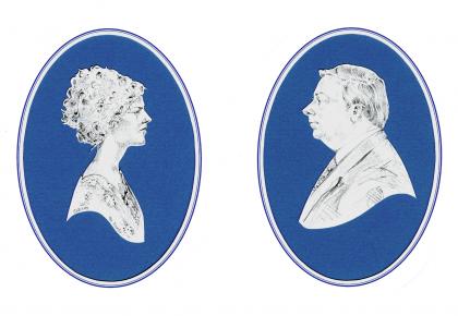 En Grisaille Portrait Silhouettes