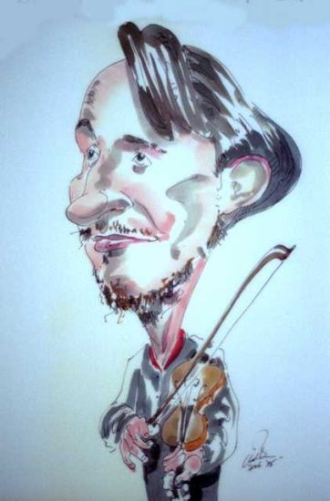 Nigel Kennedy caricature