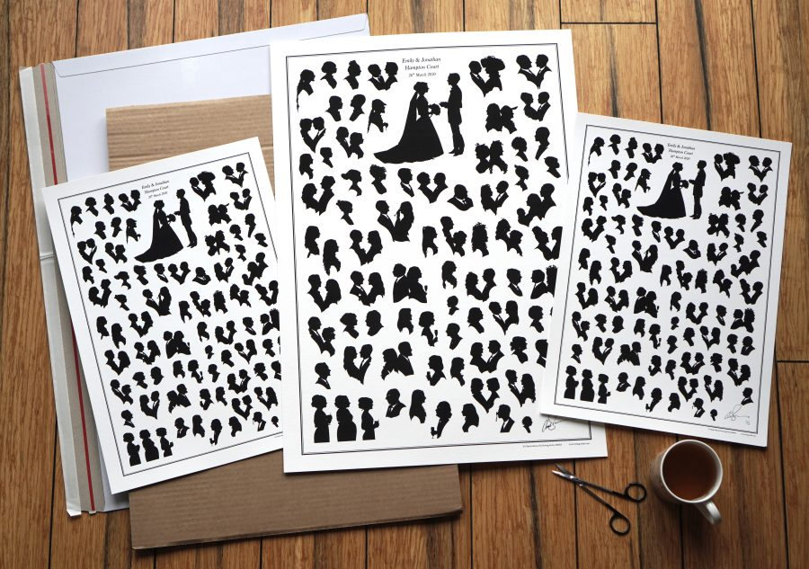 A set of fine art prints created after booking Charles as a wedding artist
