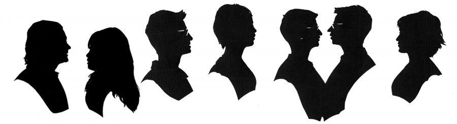 Seven zoom silhouettes