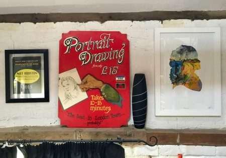 My Covent Garden sign board kept in my studio