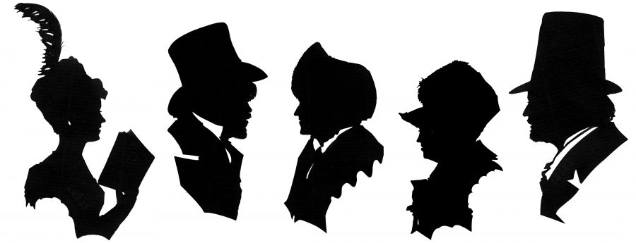 Five Regency April fool silhouettes
