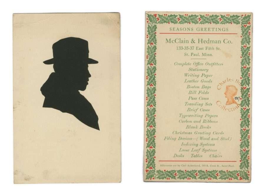 Reverse of card reads: Season's Greetings