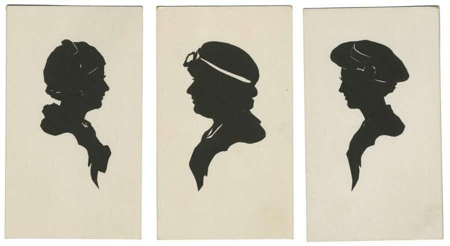 Three silhouettes by Carl Ackerlund