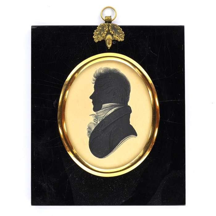 Bust of a regency man facing left
