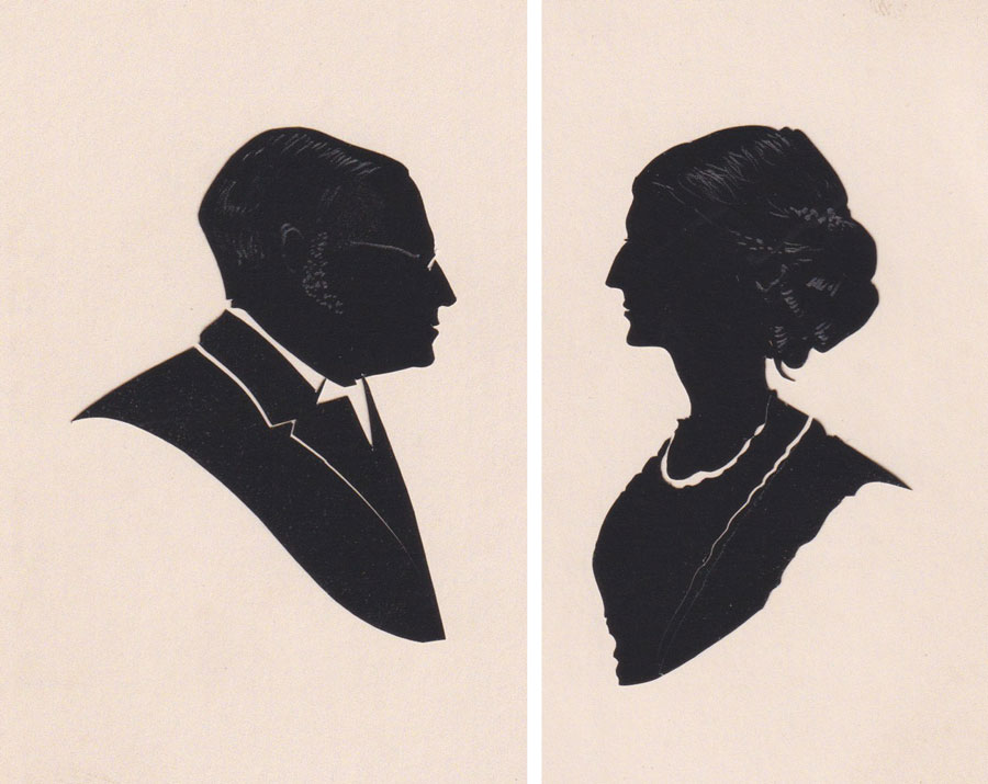 Pair of April Fielding silhouettes